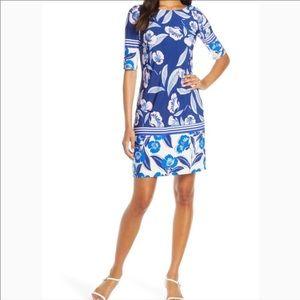 Eliza J Elbow Sleeve Shift Dress Size 6